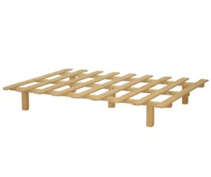 בסיס מיטה זוגי מעץ מלא