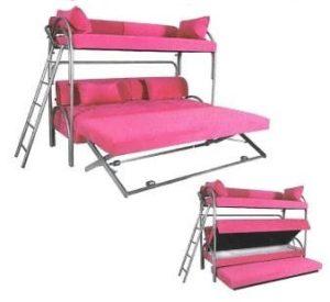 ספת נוכר קומותיים עם 3 מיטות